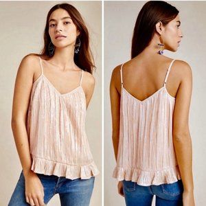 Anthropologie Pink Sequin Amelie Party Tank